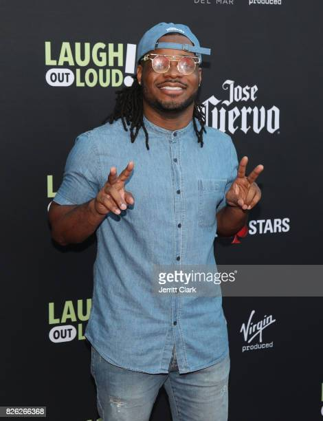 Emmauel Hudson attends Kevin Hart And Jon Feltheimer Host Launch Of Laugh Out Loud at a Private Residence on August 3 2017 in Beverly Hills California