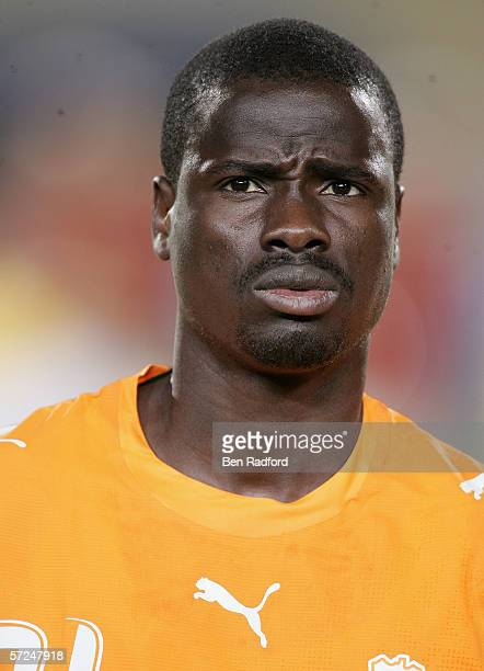 Emmaunuel Eboue of Ivory Coast prior to The African Cup of Nations Final between Egypt and Ivory Coast at The Cairo International Stadium on February...