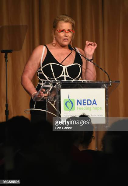 Emme Aronson speaks onstage during the National Eating Disorders Association Annual Gala 2018 at The Pierre Hotel on May 16 2018 in New York City