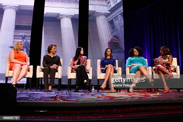 Emme Dr Priscilla Douglas Amanda Steinberg Dr Holly Phillips Lisa Price and Star Jones speak on stage at NAPW 2014 Conference Day 2 on April 25 2014...