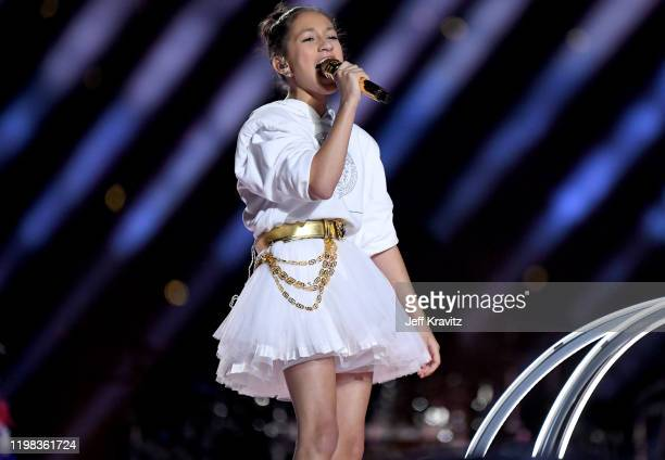 Emme Maribel Muñiz performs onstage during the Pepsi Super Bowl LIV Halftime Show at Hard Rock Stadium on February 02, 2020 in Miami, Florida.