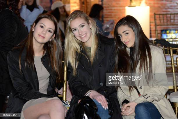 Emme Sutherlin Alexis Sutherlin and Mia Marcoccia attend the runway for TRICO FIELD At New York Fashion Week Powered By Art Hearts Fashion NYFW at...