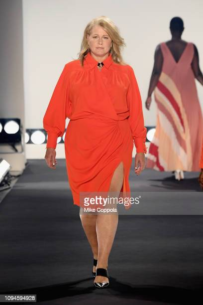 Emme walks the runway for the 11 Honore fashion show during New York Fashion Week The Shows at Gallery I at Spring Studios on February 6 2019 in New...