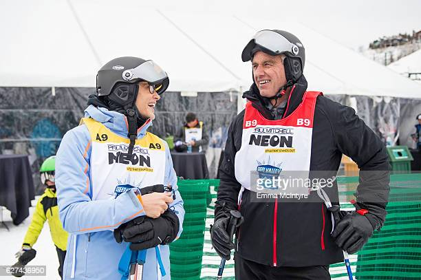 Emmeli Bruno and President of Waterkeeper Alliance Robert F. Kennedy Jr. Attend the 2016 Deer Valley Celebrity Skifest on December 2, 2016 in Park...
