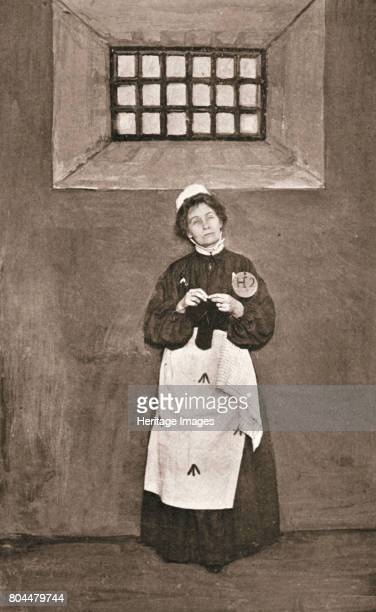 Emmeline Pankhurst British suffragette in a cell in Holloway Prison London 1908 Emmeline Pankhurst and her daughter Christabel were among the leaders...