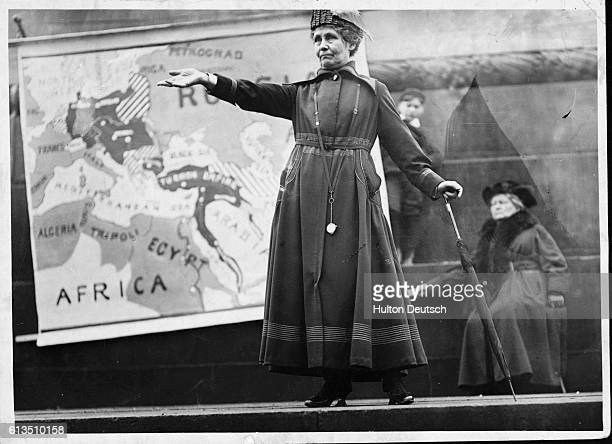 Emmeline Pankhurst the English militant suffragette