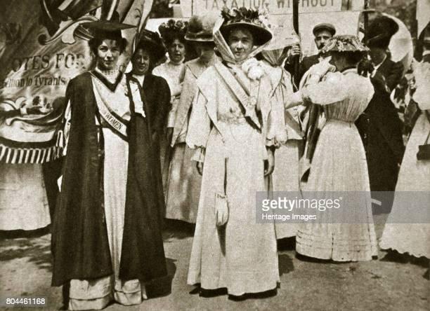 Emmeline PethickLawrence and Emmeline Pankhurst British suffragettes 1908 Emmeline Pethick Lawrence and Emmeline Pankhurst were two of the leaders of...