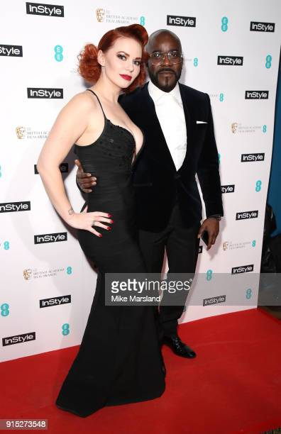 Emmerald Barwise and Melvin Odoom attend the EE InStyle Party held at Granary Square Brasserie on February 6 2018 in London England