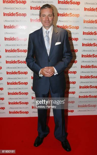 Emmerdale actor John Middleton arrives for the Inside Soap Awards Launch Party at the John Street Hotel on July 14 2008 in Manchester England