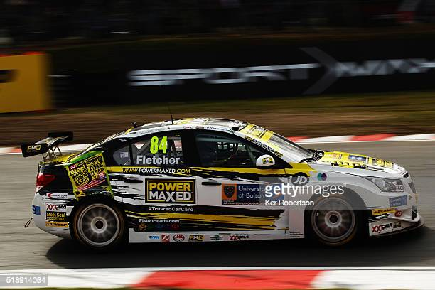 Emmerdale actor Kelvin Fletcher of Power Maxed Racing Chevrolet drives during race two of the Dunlop MSA British Touring Car Championship at Brands...