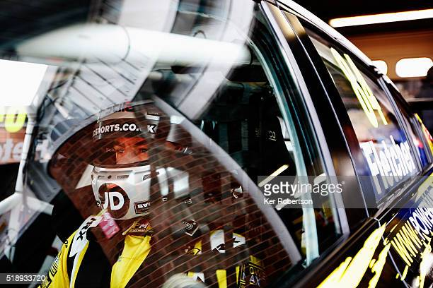Emmerdale actor Kelvin Fletcher of Power Maxed Racing Chevrolet prepares to drive during race one of the Dunlop MSA British Touring Car Championship...