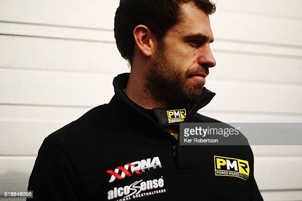 Emmerdale actor Kelvin Fletcher of Team Power Maxed racing prepares to drive during the Dunlop MSA British Touring Car Championship at Brands Hatch...