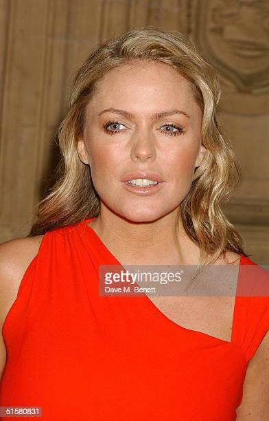 """'Emmerdale' actress Patsy Kensit arrives at the """"10th Anniversary National Television Awards"""" at the Royal Albert Hall on October 26, 2004 in London...."""