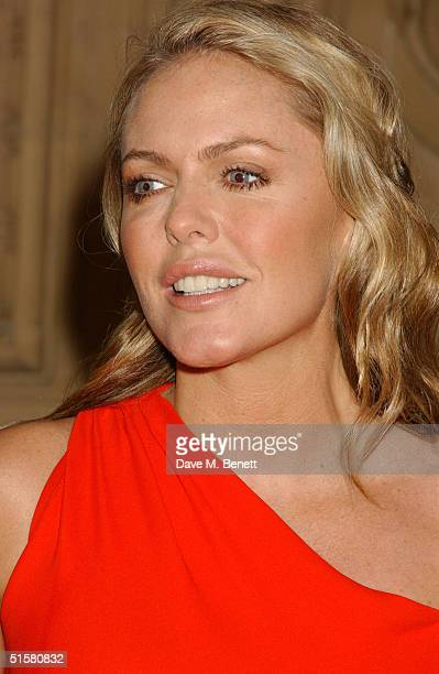 'Emmerdale' actress Patsy Kensit arrives at the 10th Anniversary National Television Awards at the Royal Albert Hall on October 26 2004 in London The...