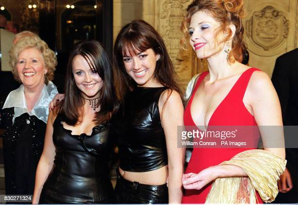 Emmerdale actresses Paula Tilbrook who plays Betty Eagleton Sally Walsh Sheree Murphy and Samantha Giles at The Royal Albert Hall in London for the...