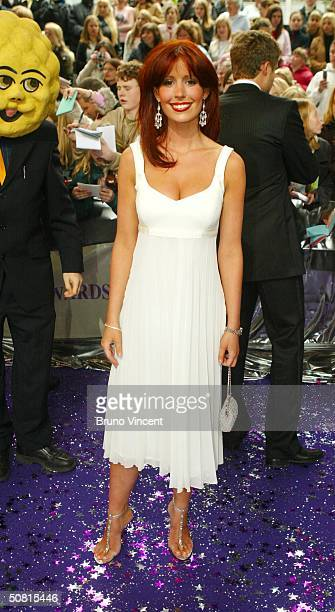Emmerdale soap star Amy Nuttall arrives at the sixth annual 'British Soap Awards 2004' on May 8 2004 at BBC Television Centre in London
