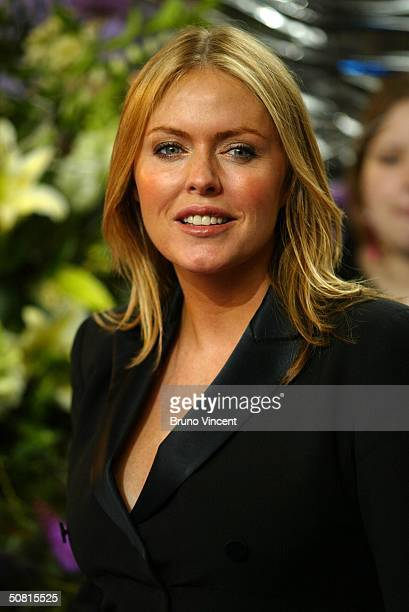 Emmerdale soap star Patsy Kensit arrives at the sixth annual British Soap Awards 2004 on May 8 2004 at BBC Television Centre in London
