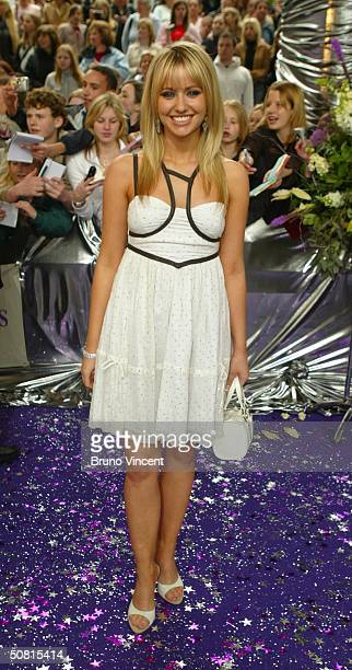 Emmerdale soap star Sammy Winward arrives at the sixth annual 'British Soap Awards 2004' on May 8 2004 at BBC Television Centre in London