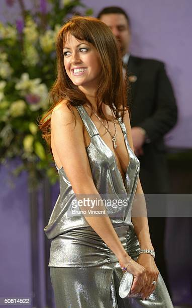Emmerdale soap star Sheree Murphy arrives at the sixth annual British Soap Awards 2004 on May 8 2004 at BBC Television Centre in London