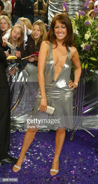 Emmerdale soap star Sheree Murphy arrives at the sixth annual 'British Soap Awards 2004' on May 8 2004 at BBC Television Centre in London