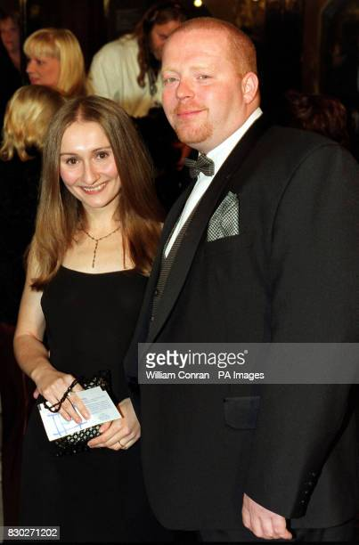 Emmerdale stars Paul Loughran who played Butch Dingle and Kate McGregor who plays Emily Wylie at The Royal Albert Hall in London for the National...