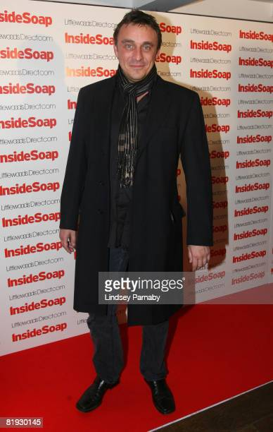 Emmerdale's Matt Healey arrives for the Inside Soap Awards Launch Party at the John Street Hotel on July 14 2008 in Manchester England