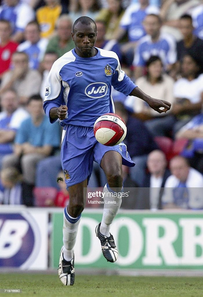 Emmerson Boyce of Wigan Athletic in action during the Barclays Premiership match between Wigan Athletic and Watford at the JJB Stadium on September 23, 2006 in Wigan, England.