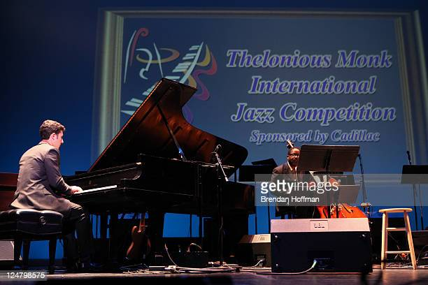 Emmet Cohen performs in the Thelonious Monk International Jazz Competition during the Thelonious Monk Institute of Jazz 25th Anniversary Gala on...
