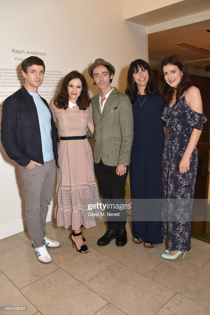 Emmet Kirwan, Elaine Cassidy, David Dawson, Eileen Walsh and Aisling Loftus attend the press night after party for 'Aristocrats' at The Hospital Club on August 9, 2018 in London, England.