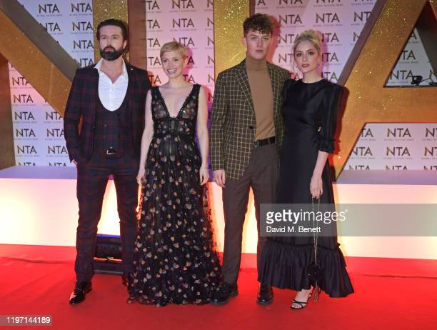 Emmett J Scanlan Kate Phillips Harry Kirton and Sophie Rundle attend the National Television Awards 2020 at The O2 Arena on January 28 2020 in London...
