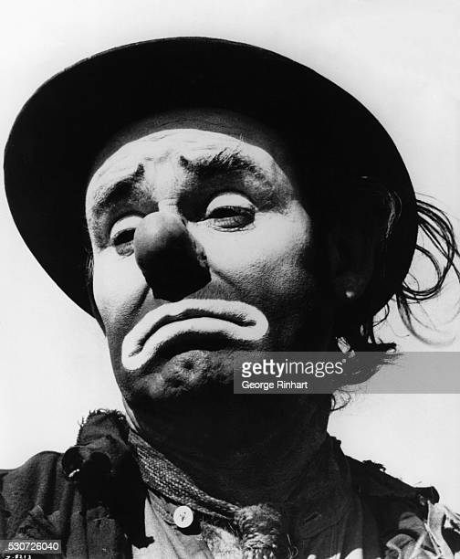 Emmett Kelly as Weary Willie the sad hobo clown character he made famous