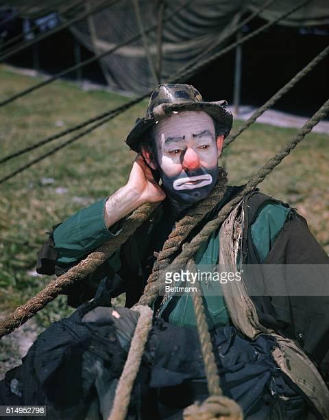 Emmett Kelly in Clown Make-Up