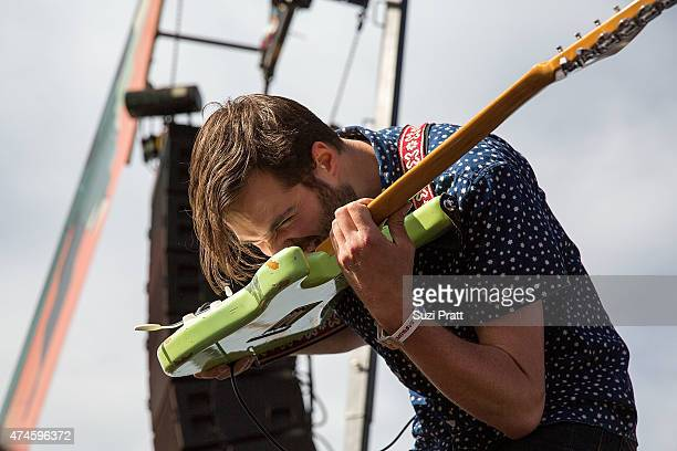 Emmett Miller of Diarrhea Planet performs at the Sasquatch Music Festival at The Gorge on May 23 2015 in George Washington