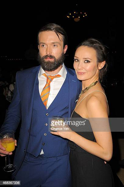 Emmett Scanlan and Claire Cooper attends 'AD The Bible Continues' New York Premiere Reception at The Highline Hotel on March 31 2015 in New York City