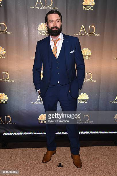 Emmett Scanlan attends the 'AD The Bible Continues' New York Premiere Reception at The Highline Hotel on March 31 2015 in New York City