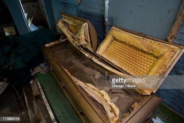 Emmett Till's original casket was held in a storage room at Burr Oak Cemetery in Alsip Illinois on Friday July 10 2009