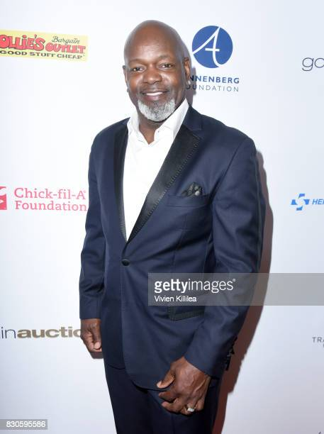 Emmitt Smith attends the 17th Annual Harold Carole Pump Foundation Gala at The Beverly Hilton Hotel on August 11 2017 in Beverly Hills California
