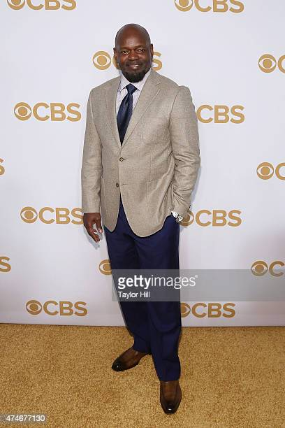Emmitt Smith attends the 2015 CBS Upfront at The Tent at Lincoln Center on May 13 2015 in New York City
