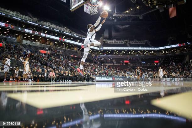 Emmitt Williams Oak Ridge HS Orlando FL slam dunks during the Jordan Brand Classic National Boys Teams AllStar basketball game The Jordan Brand...