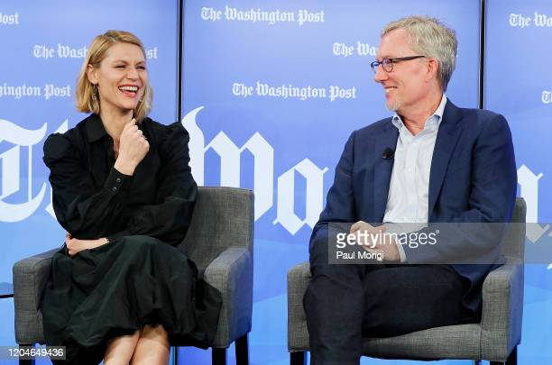 Emmy and Golden Globe awardwinning actress Claire Danes and Homeland Cocreator and executive producer Alex Gansa speak at the Homeland Season 8...