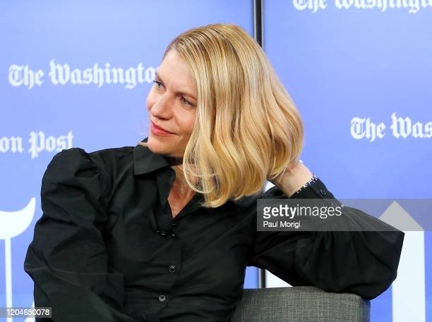Emmy and Golden Globe awardwinning actress Claire Danes attends the Homeland Season 8 Screening Conversation at Washington Post Live Center on...