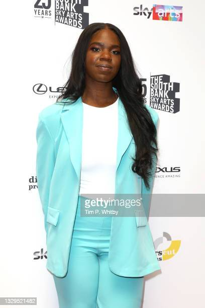 Emmy attends The South Bank Sky Arts Awards at The Savoy on July 19, 2021 in London, England. The South Bank Sky Arts Awards will air on Thursday...