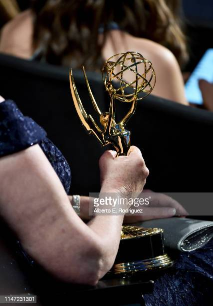 Emmy award is seen during the 46th annual Daytime Emmy Awards at Pasadena Civic Center on May 05 2019 in Pasadena California