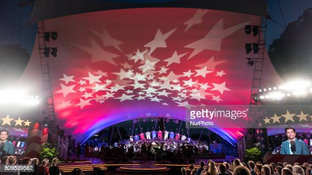 Emmy Awardnominated actor producer and host John Stamos rehearsed for the 37th annual A Capitol Fourth a celebration for Independence day on the West...