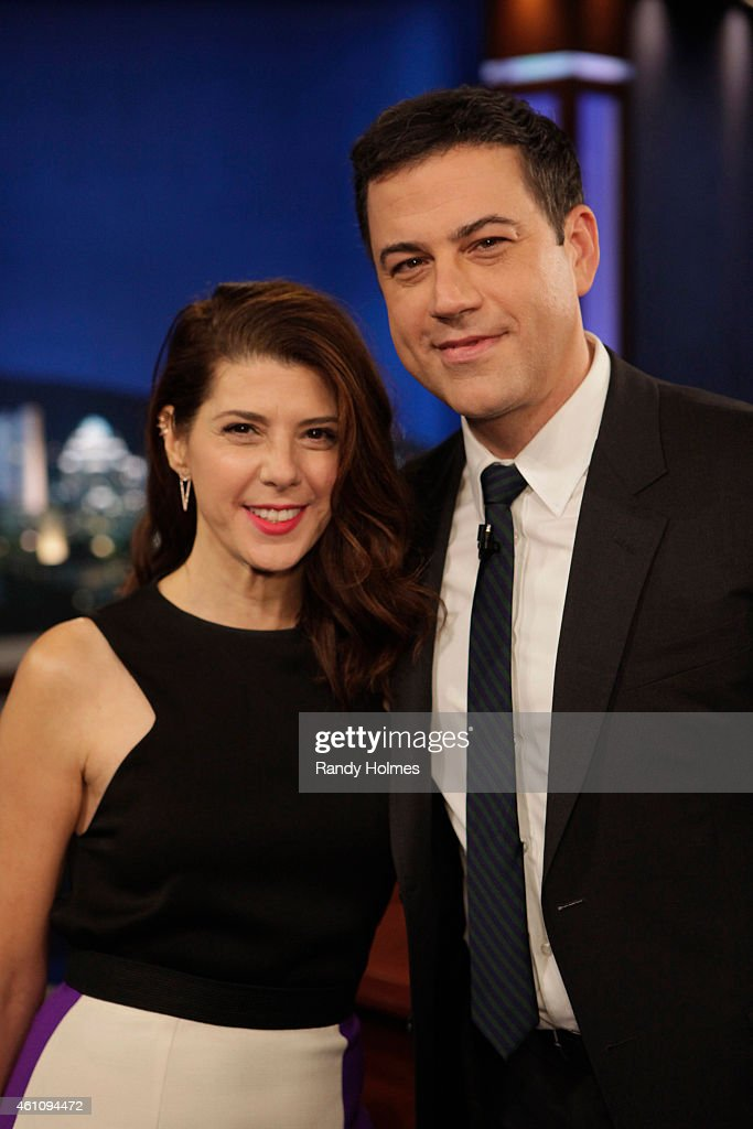LIVE - Emmy Award-nominated 'Jimmy Kimmel Live' airs every weeknight (11:35 p.m. - 12:41 a.m., ET), packed with hilarious comedy bits and features a diverse lineup of guests including celebrities, athletes, musicians, comedians and humorous human interest subjects. The guests for WEDNESDAY, DECEMBER 10 included actress Marisa Tomei ('Loitering with Intent'), actor Marcus Scribner (ABC's 'black-ish') and musical guest The Smashing Pumpkins. MARISA