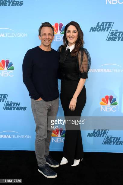 MEYERS Emmy FYC Event Pictured Seth Meyers D'Arcy Carden at the Saban Media Center at the Television Academy on May 17 2019