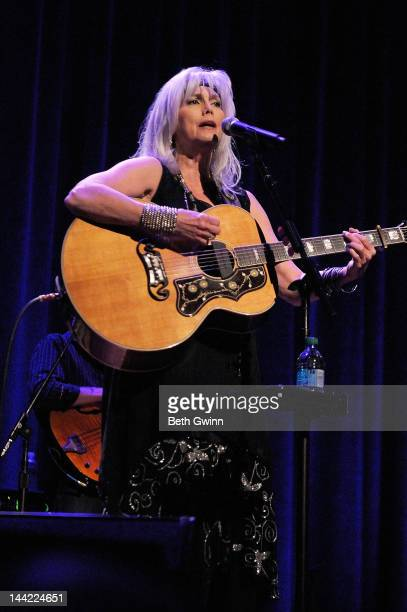 Emmy Lou Harris plays at the Interfaith Dental Benefit at Ryman Auditorium on May 11 2012 in Nashville Tennessee