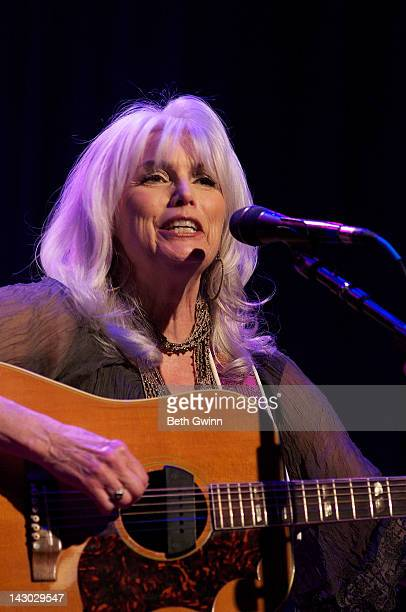 Emmy Lou Harris plays the Mental Health America of Middle Tennessee at the Ryman Auditorium on April 17 2012 in Nashville Tennessee