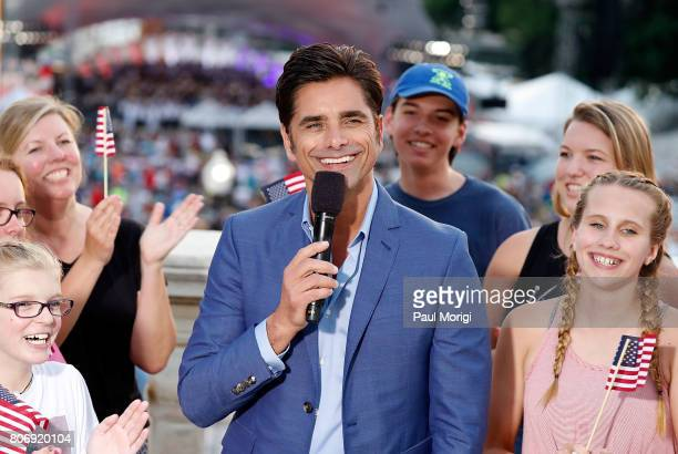 Emmy nominated actor and host John Stamos at A Capitol Fourth Rehearsals at US Capitol West Lawn on July 3 2017 in Washington DC