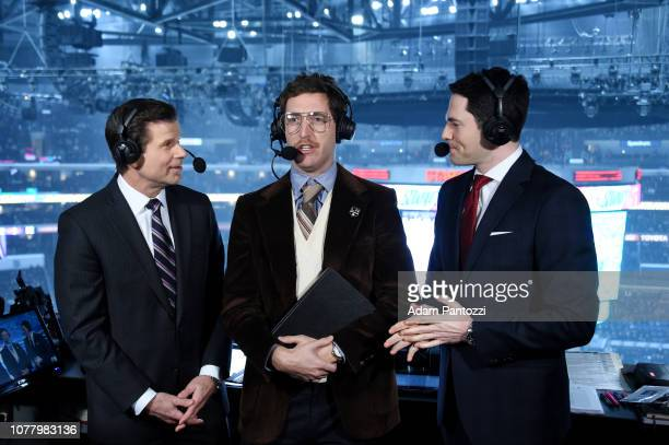 Emmy nominated actor comedian writer and star of Silicon Valley Thomas Middleditch appears as a guest of the Los Angeles Kings while incharacter as...